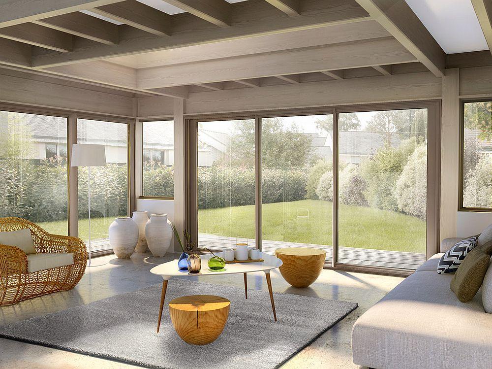 Veranda styl 39 fermeture de terrasse menuiserie alu for Fermeture de terrasse couverte